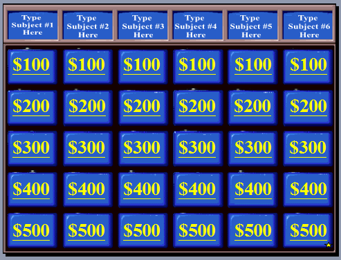 playing jeopardy in the esl classroom